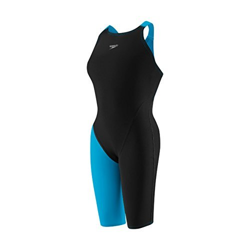 Speedo LZR Racer Pro Recordbreaker Kneeskin with Comfort Strap Female Black/Blue 22