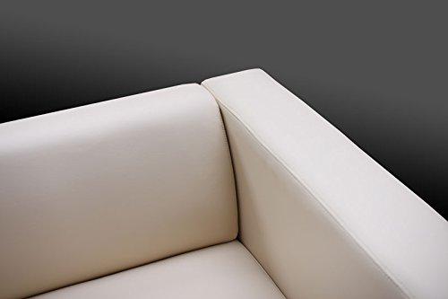Mendler 3er Sofa Couch Loungesofa Lille ~ Leder schwarz