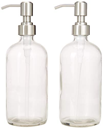 545eb8e81b2c 2-Pack Dispenser Pump Bottles for Kitchen and Bathroom - Dish Soap, Hand  Soap, Shampoo, Lotion, Mouthwash, and More - Rust Proof Stainless Steel  Pump ...