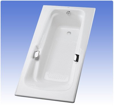 Toto FBY1500PNo.01 Enameled Cast Iron Bathtub 60-3/8-Inch by 36-1/4-Inch by 22-1/4-Inch, Cotton ()