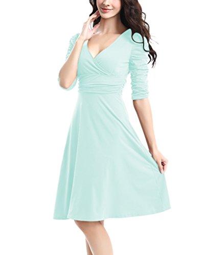 Buy below knee length dresses with sleeves - 9