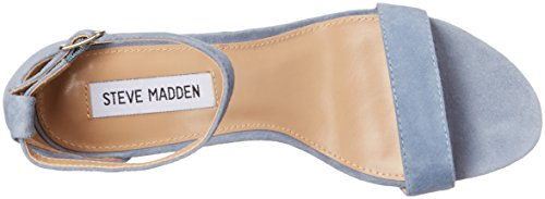 Sandalia Steve Madden tacón gamuza negro Ante azul