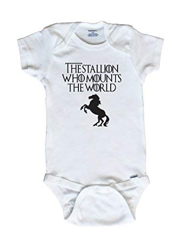 SweetBeetleApparel The Stallion Who Mounts The World, Baby Onesie (0-3 Months)