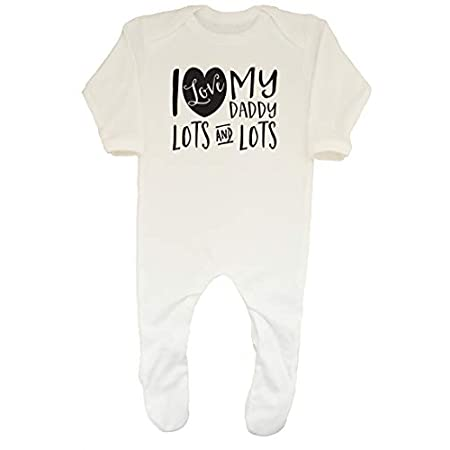 Shopagift Baby I Love My Daddy Lots and Lots Sleepsuit Romper 31 2BJMvYy10L
