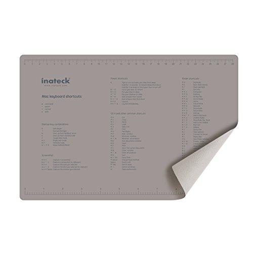 Inateck 4 in1 Microfaser Schutztuch mit Mac Shortcuts, Reinigungstuch mit Mauspadfunktion für 13