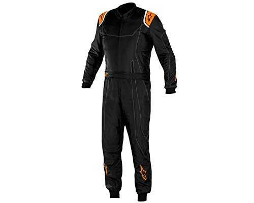 Price comparison product image Alpinestars KMX-9 Kart Suit Black / Orange Fluo 50 UK KART STORE
