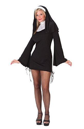 [8eighteen Sexy Naughty Nun Adult Halloween Costume] (Naughty Nun Halloween Costumes)