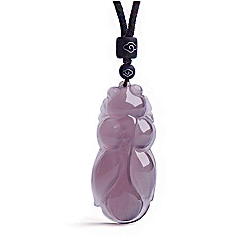 - Purple Chalcedony Pendant Gold Fish Pendant Jewelry Charms Women Long Necklace Pendant Jades Jewelry