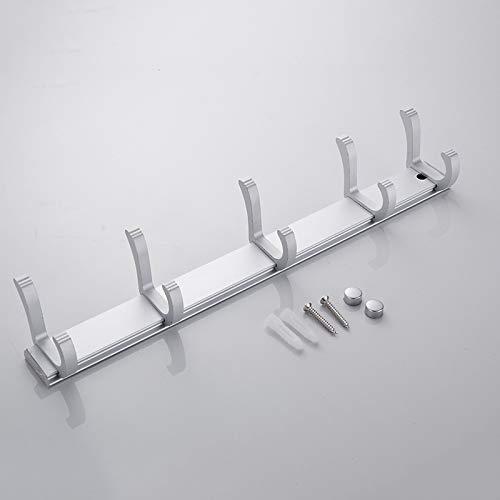 WEN-UD Wall Mounted Space Aluminum Color Clothes Hanger & Towel & Coat & Robe Hook Decorative Bathroom Hooks Slive