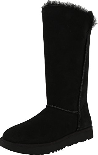 UGG Classic Cuff Tall Black Women's Shoes (Classic Tall Wool Boot)
