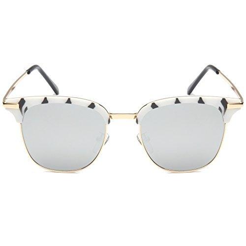 Optition Retro Classic Sunglasses Metal Half Frame With Colored Lens Uv - Gladiator Glasses