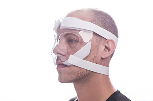 Sports Knight - Semi-Customizable Nose Guard/Face Shield with Extra Grip Padding by Sports Knight
