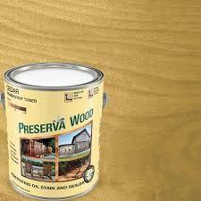 Preserva Wood 1 gal. 100 VOC Oil-Based Cedar Penetrating Exterior Stain and Sealer ()