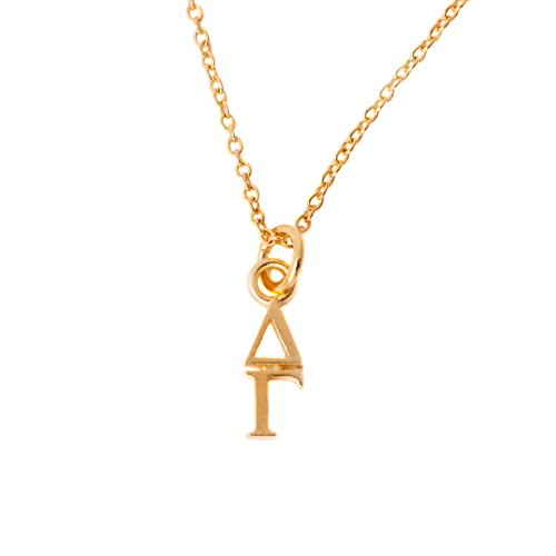 Desert Cactus Delta Gamma Sorority 24k Gold Plated Lavalier Letter Necklace with Chain DG (24k Lavalier)