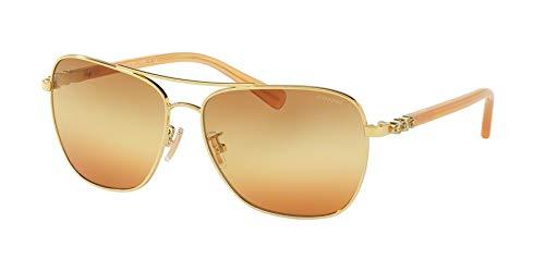 Coach Women's HC7073B Sunglasses Gold/Amber / Brown Orange Triple Gradient ()