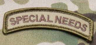 - SPECIAL NEEDS TAB Patch - Multicam Color
