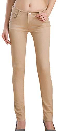 Snone Femmes Pantalons Long Femme Tendance Automne Mince Pantalon lasticit Jeans Style Coren Pantalons Dcontracts Slim Leggings Jean Maigre Pantalon Crayon Pantalon Kaki