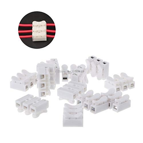 ZANAN -Tecco - For 50Pcs/Pack Universal 50 Pcs Push In Wire Connector 250V 3P Terminal Block For LED Lamp Promotion