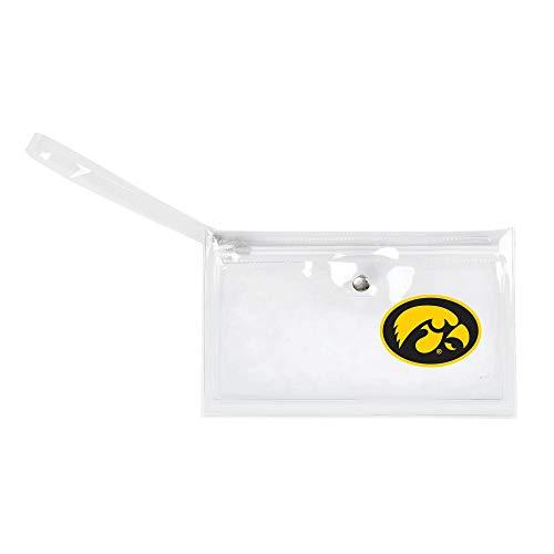 NCAA Iowa Hawkeyes Unisex Ncaancaa Ticket Wristlet, Clear, 9