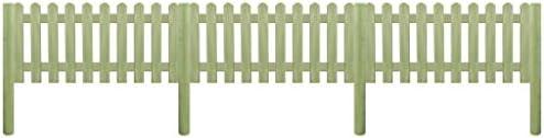 Luckyfu Diseno Moderno Bricolaje Vallas de Jardin Paneles de Vallas Valla de Madera con Postes de Pino impregnado 5, 1m 130cm 6/9cm: Amazon.es: Jardín