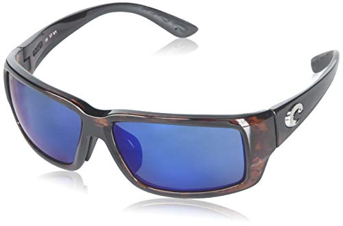 - Costa Del Mar Fantail 580P Fantail, Tortoise Frame Global Fit Blue Mirror, Blue Mirror
