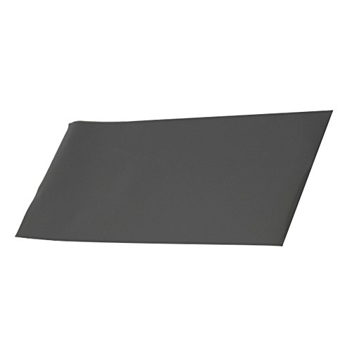 Black Heat Resistant Thin Silicone Grade Rubber Gasket Sheet 12 by 12 inch,1/25 Inch Thick (Rubber Resistant Ozone)