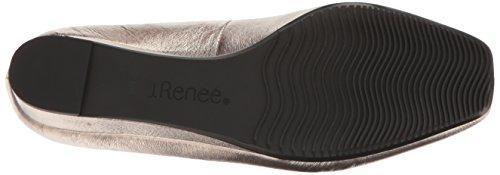 J. Renee Women's Yaralla Wedge Pump, Black Crinkle, 7 N US Taupe