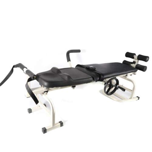 """Therapy Massage Bed Body Stretching Tool Spine Lumbar Device 55""""-75"""" Vertebra Leg Bidirectional Stretching Traction"""