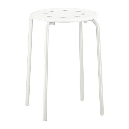 Ikea - Marius Stool Stackable - White