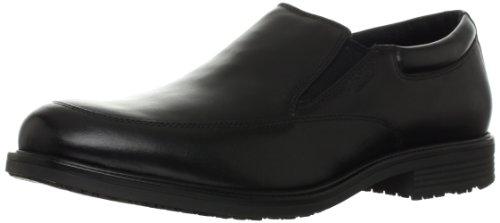 (Rockport Men's Essential Details Waterproof Slip On Oxford, Black, 13 N US)