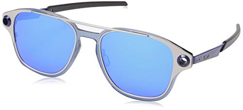 Oakley Men's OO6042 Coldfuse Square Titamium Sunglasses, Satin Chrome/Prizm Sapphire, 52 mm ()