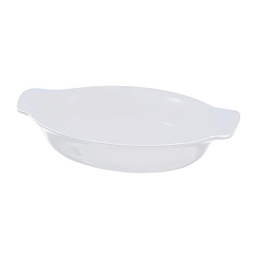 Swissmar Le Cordon Bleu Tendance Medium Oval Roasting Dish, 2.3 Quart, Blanc White