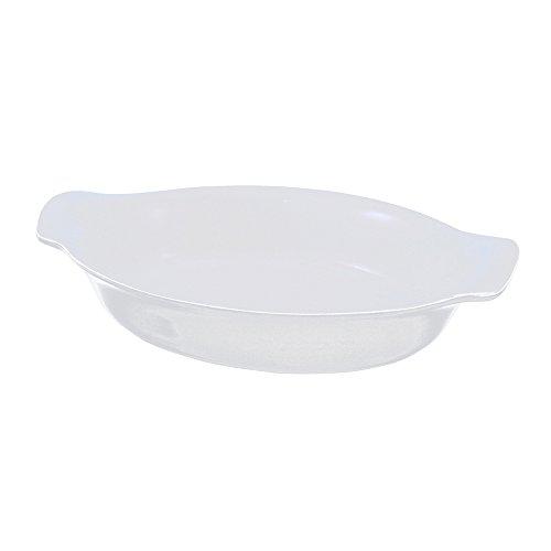 Swissmar Le Cordon Bleu Tendance Medium Oval Roasting Dish, 2.3 Quart, Blanc White