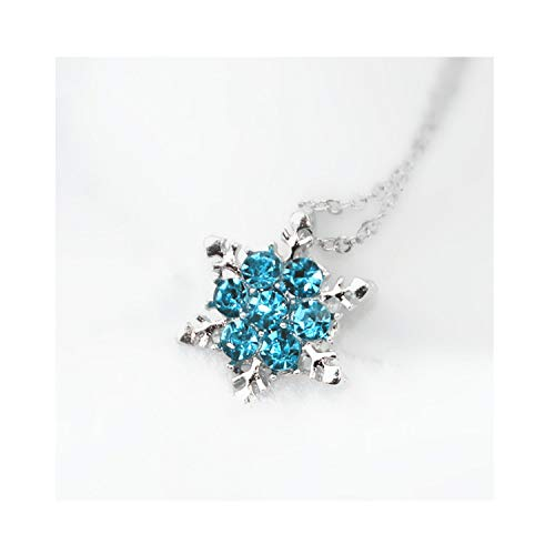 - Jewelry Shiny Crystal Rhinestone Pendant Necklace Snowflake Flower Necklace Women Wedding Jewelry