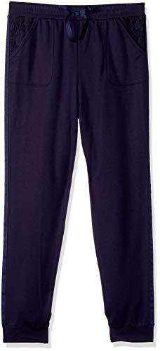 Amy Byer Girls' Big Contrast Pocket Cargo Jogger Pants, sea Navy, M by Amy Byer
