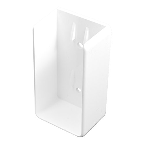 Durable White PVC Vinyl U-Mount Rail Bracket For A True 2 Inch X 3.5 Inch Rail | Single Pack | AWBR-UMOUNT-2X3.5