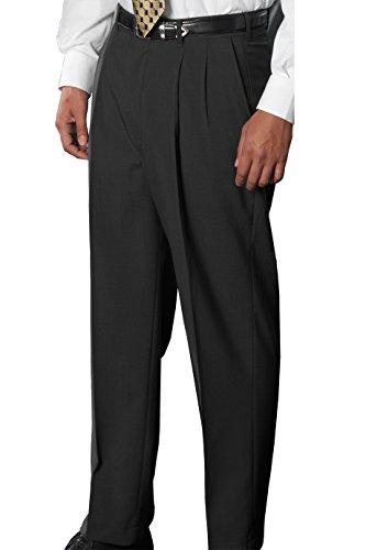Edwards Garment Men's Classic Pleated Front Dress Pant, Charcoal, 44 32