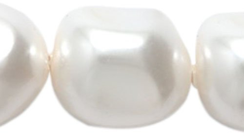 Shaped Pearl Baroque (Swarovski  5840 Crystal Baroque Pearl Beads, 14mm, White 4-Pack)