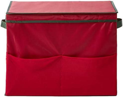 Amazon Com Homz 5832003 Gift Bag Storage Tote Organizer Holiday Red Home Kitchen