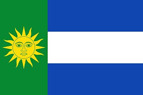 magFlags Bandera Large Rectangular de Proporciones 2/3, el tercio Junto al asta de Color Verde | Bandera Paisaje | 1.35m² |...