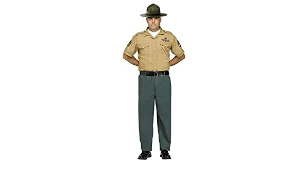 Mens Drill Sergeant Army Uniform Forces Stag Do Party Fancy Dress Costume Outfit