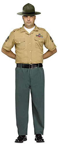 Mens Drill Sergeant Army Marines Uniform Forces Stag Do Bachelor Party Fancy Dress Costume Outfit