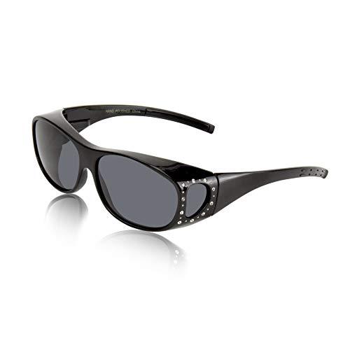 Bling Sunglasses for Women Men Cataract Sunglasses Women Dark Sunglasses ()