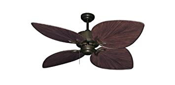 Bombay Tropical Ceiling Fan in Antique Bronze with 50 Oil Rubbed Bronze Blades