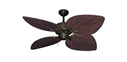 Bombay Tropical Ceiling Fan In Oil Rubbed Bronze With 50quot Weathered Brick Blades