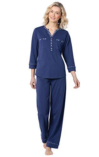 Addison Meadow Pajamas for Women - Pajamas Set for Women, Navy, Small / 4-6