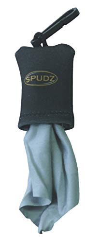 Alpine Innovations Spudz Microfiber Cloth in Black Pouch, 10X10