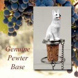 German Shepherd White Wine Bottle Stopper - DTB08C by Conversation (German Shepherd Bottle)