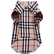 (CHOLEGIFT Small Dog Puppy Shirt Clothing Big Cat Cotton Lapel Costume Polo Apparel - Fitwarm Western Plaid Dog Clothes for Pet )