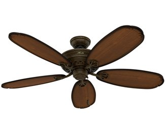 Hunter Ceiling Fan Gold 54015 Crown Park 54'' with Light, Tuscan Gold (Desk Fan Included) by Hunter (Image #7)